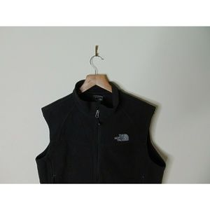 The North Face Jackets & Coats - North Face L Full Zip Windwall Fleece Vest Black